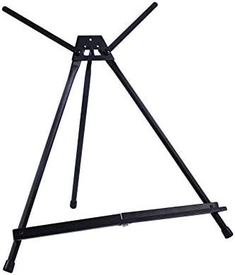 Exerz Caballetes/Base De Mesa/Soporte De Lona De Aluminio Negro - Ligero Extra Fácil De Transformar De Un Lienzo Pequeño O Grande Compatible, ...