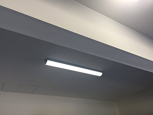 LED 4' 40W LED Garage Shop Light Wraparound Flush Mount Ceiling Light, 100W Equiv. Ultra Bright 4000lm, Cool White 4000K for Laundry Rooms, Hallways, Offices, Workbenches by HARRRRD (Image #9)