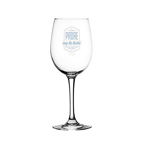Wonder Soy Milk - Mr. Wonderful WOA09221ES Wine Glass - As a Father Soy la Milk