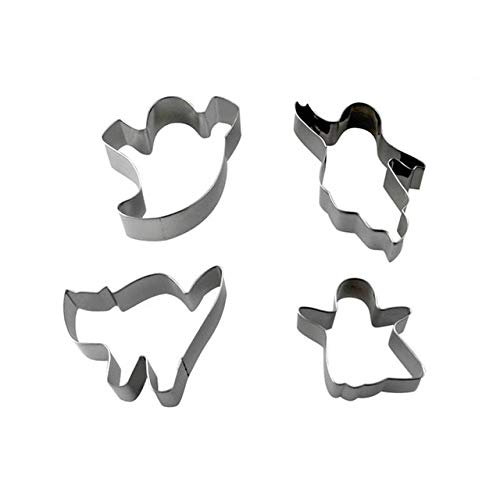 4 Pcs Mini Metal Cookie Cutter Set Halloween|mini tool cookie cutters|mni coolie mold|mni -