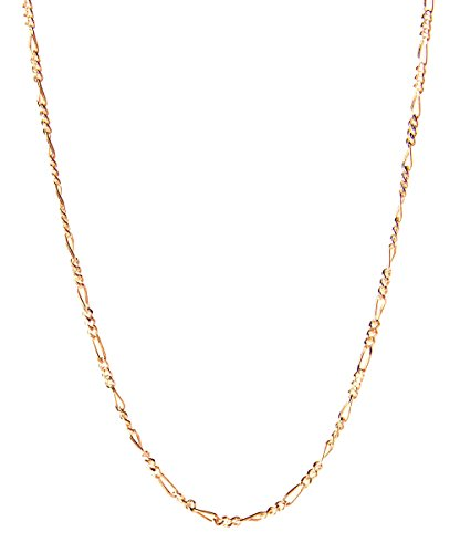 18 Karat Solid Yellow Gold Figaro Link Chain Necklace - 3+1 Link - Made In Italy- 26'' by PORI JEWELERS (Image #1)