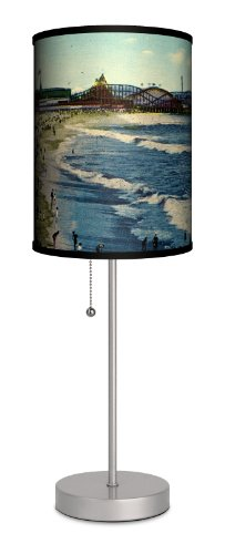 Travel - Venice Beach Pier Sport Silver Lamp by Lamp-In-A-Box
