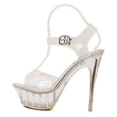 Mujer y Blanco white PU Más cms ggx Tacones Casual 12 Confort LvYuan Primavera Confort Pq5wO8qfx