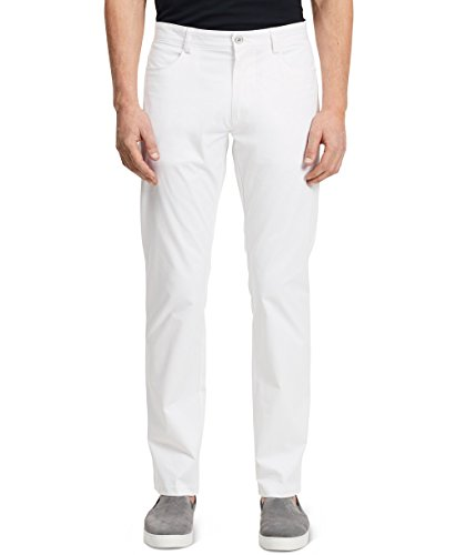 Buy now Calvin Klein Men's Slim Fit 4-Pocket Stretch Sateen Pant,White,36Wx30L