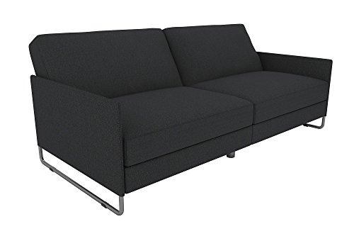 DHP Pembroke Convertible Futon Sofa Bed, Grey Linen
