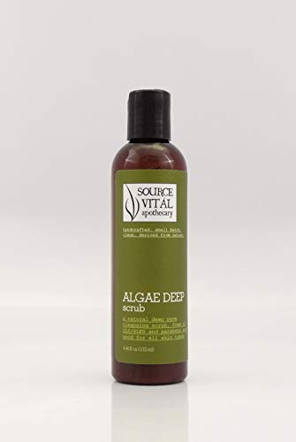 Source Vital Apothecary | Algae Deep Scrub | Natural Facial Cleanser and Exfoliator for All Skin Types | 4.46 fl. oz