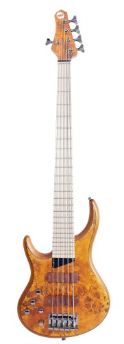 Mtd Bass Strings - MTD Kingston Bass Guitar Z 5 String, Left-handed, Maple Fingerboard, Burled Maple