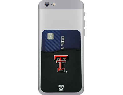 Texas Tech Red Raiders Adhesive Silicone Cell Phone Wallet/Card Holder for iPhone, Android, Samsung Galaxy, most (Texas Tech 2 Piece)