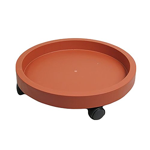 15-Inch Plastic Heavy Duty Plant Saucer Caddy Plant Dolly, Brick-red by cozyou