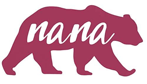 New Nana Bear Vinyl Decal For Crafts Glasses Cars Laptops Signs