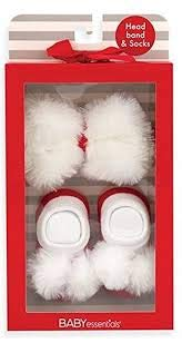 Cuddle Bear Santa Headband And Socks ()