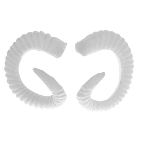 Artificial Sheep Ram Horns Costume Ram Horns Headband for Halloween Cosplay Costume - White
