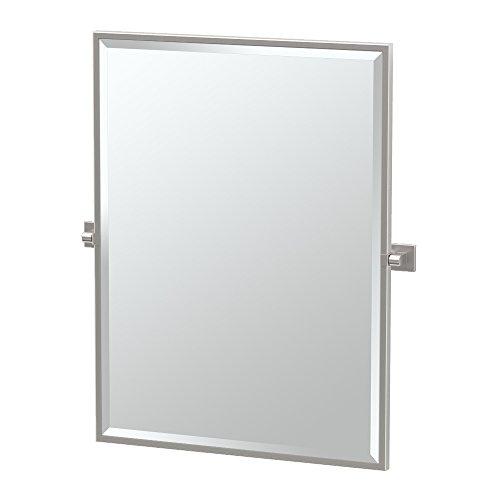 Gatco Rectangular Mirror - Gatco 4079FS Elevate Framed Rectangle Mirror, Satin Nickel, 32.5
