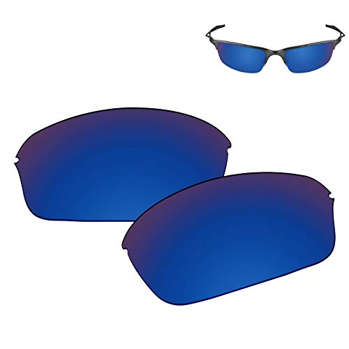- Galvanic Replacement Lenses for Oakley Half Wire 2.0 Sunglasses - Sapphire Polarized