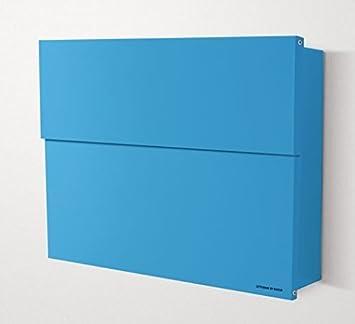 Radius Design Briefkasten Postkasten Letterman XXL 2 blau ...