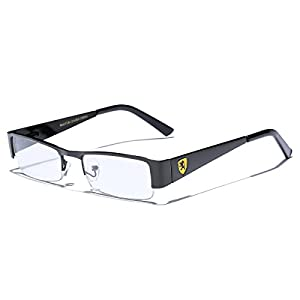 Small Rectangular Clear UV Lens Sunglasses RX Mens Womens Eye Glasses Flex Frame