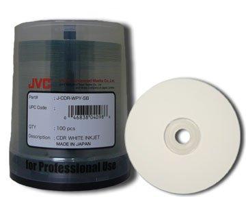 JVC Taiyo Yuden  52X CD-R White Inkjet Printable Media - 100