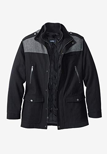 KingSize Mens Big & Tall Wool Combat Jacket