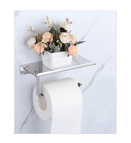 Ingenuitstore Toilet Paper Holder Wall Mount For Bathroom (Silver)