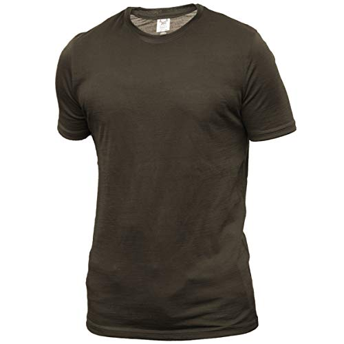 South Island Shirt - Merino 365 Men's Crew Short Sleeve Medium, Olive