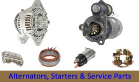 Starter 12V 10T, CW, DD, Delco 27MT, Allis Chalmers 170 1968-1973 4-236 Diesel -  Parts Express, 410-12425-OELDB