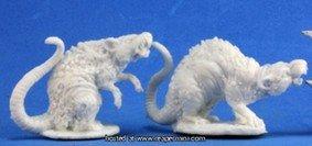Bones Barrow Rats (2) Miniature Reaper - Rat Bones