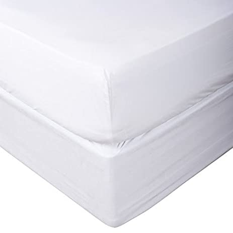 Luxury Linen 1000 TC Egyptian Cotton 1 pc Fitted Sheet with Extra Pocket White