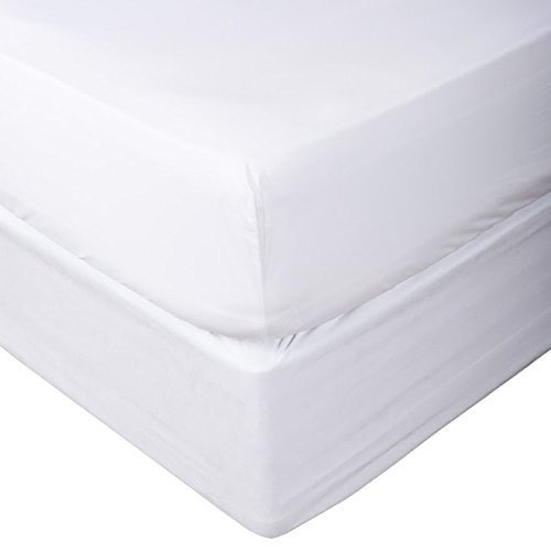 800 Thread Count 100% Egyptian Cotton Solid 1 PC Fitted Sheet (Bottom Sheet Only) Fit Upto 15'' inches Deep Pocket (Twin XL, White).
