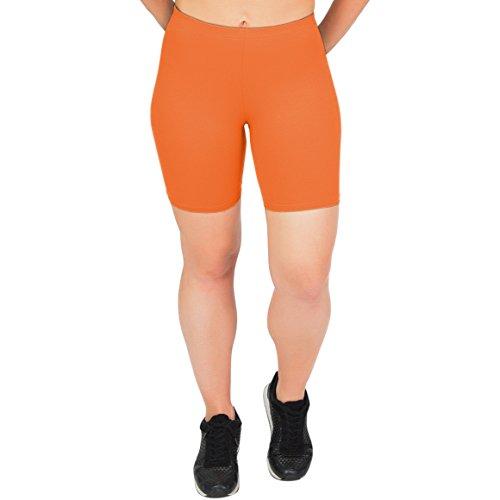 Stretch is Comfort Women's Cotton Bike Shorts Orange 2X