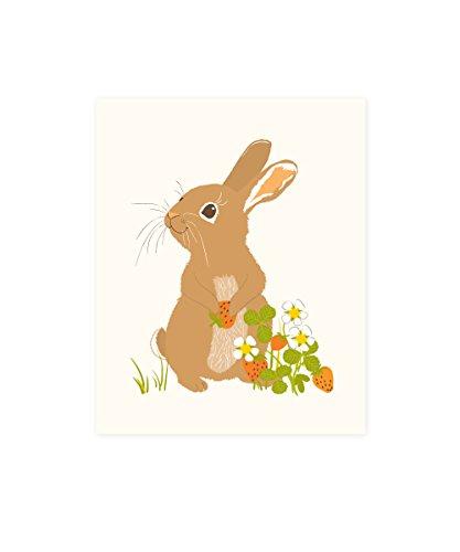 Sea Urchin Studio Woodland Art Print, Rabbit/Bunny, 8