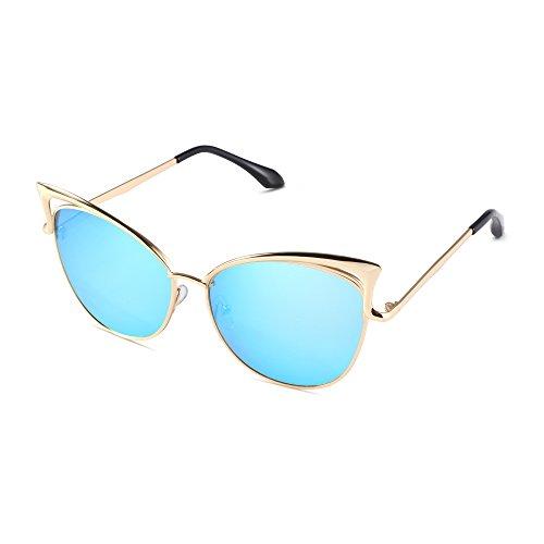Pession Women's Fashion Flash Mirror Vintage Cat Eye - Sunglasses Cateye Cheap