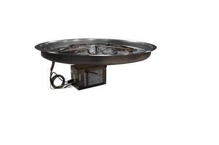 Hearth Products Controls PENTA31HWI 31in Bowl Pan with Penta Burner Complete Electronic Ignition Firepit Insert