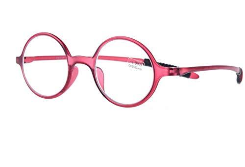 lecture HD KOMNY lunettes femme hommes et élégantes lecture Lunettes Lunettes femmes de de rétro confortables vieilles ray Blu lecture lunettes de lumière léger rond anti bleues cadre mode Degrees B de ultra C300 n1nFxrv