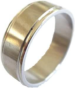 خاتم معدن للرجال، فضي - 1164 - 23 - 1