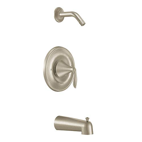 (Moen T2133NHBN Eva PosiTemp Tub and Shower Trim Kit without Showerhead without Valve, Brushed Nickel)