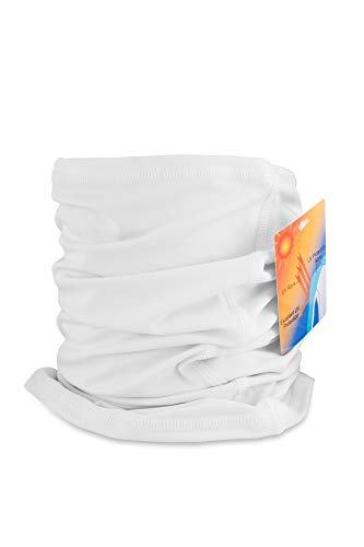 WindRider UPF 50+ Ultimate Protection Neck Gaiter, Facemask, Headband, Scarf - Great Sun Protection in The Summer and Winter - for Fishing, Sailing, Skiing All Summer and Winter Sports (White)