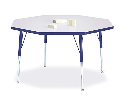 Wood & Style Office Home Furniture Premium Octagon Activity Table, A-Height, 48 x 48, -