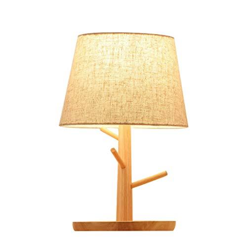 Lámpara de mesa Contador de cabecera Lámpara de madera ...