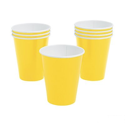 Yellow Paper Cups 48 Piece(s)