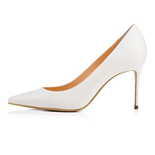 Tacón De Baile Mejorar Dedo White Sandalias Fiesta Alto Mujer 1807 Tacón 42 Puntiagudo Alta TLJ Zapatos KJJDE De Sexy nxqpZw