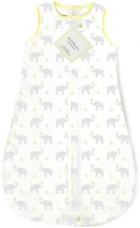 SwaddleDesigns Cotton Sleeping Sack with 2-Way Zipper, Made in USA, Premium Cotton Flannel, Elephant and Yellow Chickies, 3-6MO