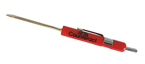 Counteract VCRV Valve Core Remover + Flat Head Screwdriver - 10 Pack