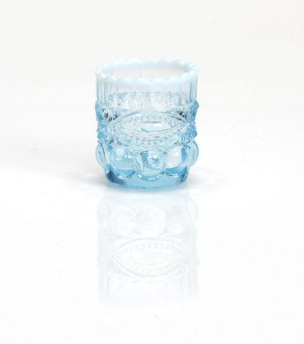 Mosser Glass Eye Winker Opal Toothpick Holder in Aqua