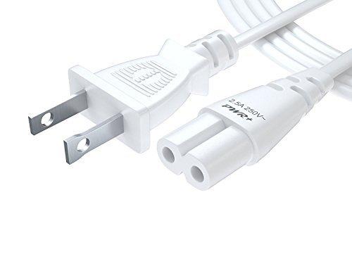 Pwr+® 182,88 cm 2 dientes de pared de CA cable de alimentación para Led, Lcd, Tv, Samsung, LG, afilados, Hp, Compaq, Acer,...