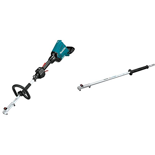 "Makita XUX01Z 18V X2 (36V) LXT Lithium-Ion Brushless Cordless Couple Shaft Power Head, Tool Only with LE400MP 42"" Shaft Extension Couple Shaft Attachment"