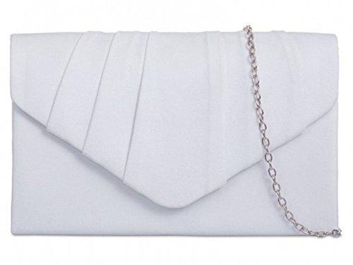 Hautefordiva blanc Pochette moyen femme sarcelle bleu pour q1rRwCq