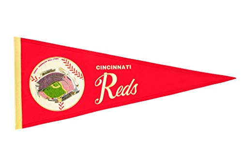 (Cincinnati Reds Vintage Ballpark Traditions Pennant (Large 13x32))