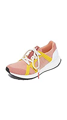 adidas by Stella McCartney Women's Ultra Boost Sneakers, Apricot Rose/Pearl Rose/Yellow, 5 B(M) US