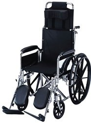 "Roscoe Medical Removable Full-Length Arms, Elevating Legrest 16"" R-Series Reclining Wheelchair"