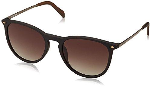 Fossil Fos 3078/s Round Sunglasses, DKHAVANA, 53 ()